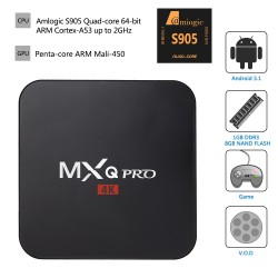 MXQ PRO S905 Android TV приставка UHD 4K