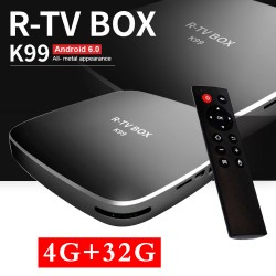 R-TV Box K99 4/32 GB Android TV приставка RK3399