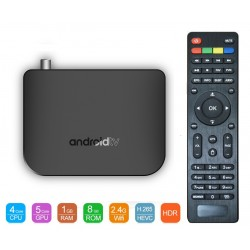 ТВ приставка M8S Plus DVB T2 Android Smart TV - Гибридная